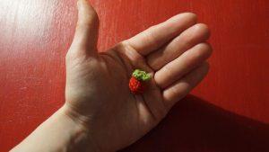 Erdbeere und Zuckerguss