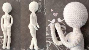 Puppenkörper von Puppe Lilly häkeln