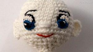 Harley Quinn Augen und Gesicht